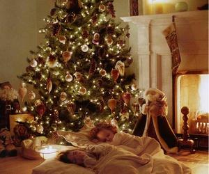 christmas, kids, and tree image