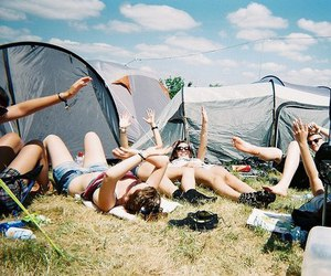 friends, summer, and camping image