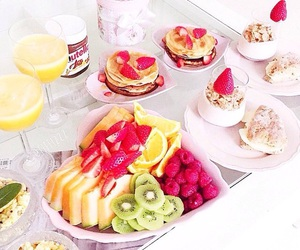 fruit, food, and nutella image