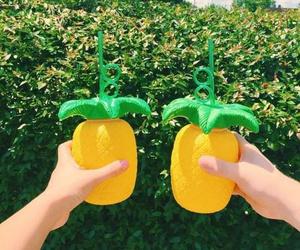 orange, green, and pineapple image