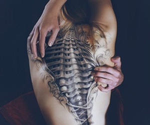 tattoo, backtattoo, and 3d body-art image