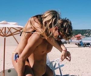 beach, hug, and love image