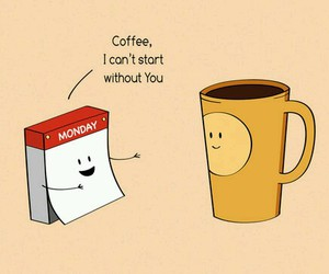 coffee, monday, and funny image