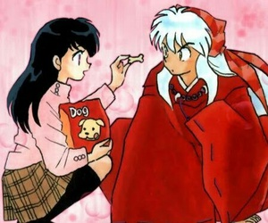 inuyasha, kagome, and anime image