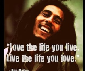 bob marley, love, and quote image