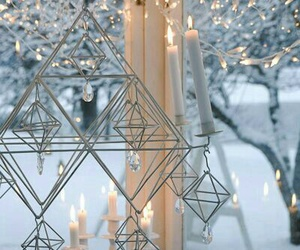 candles, winter, and christmas image
