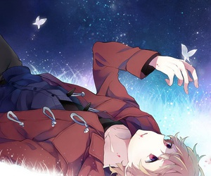 anime, anime boy, and butterfly image