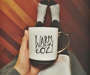 cozy, socks, and coffee image