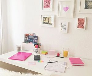 pink, room, and school image