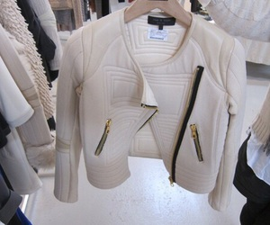 fashion, jacket, and white image