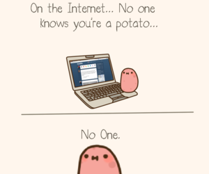 internet, potato, and pink image