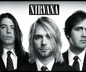 nirvana, kurt cobain, and music image