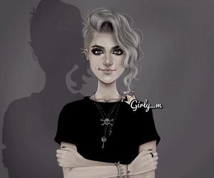 girly_m, black, and girly m image