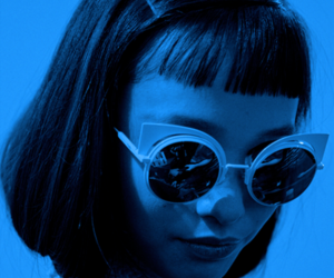 blue, aesthetic, and hair image
