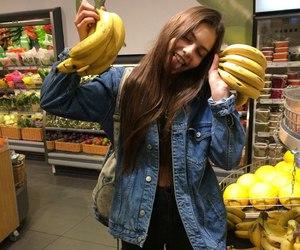 girl, banana, and tumblr image