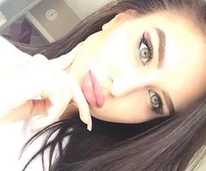 beauty, girl, and eyes image