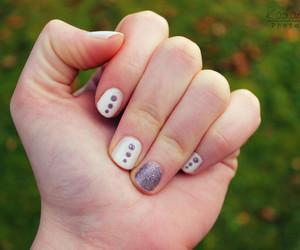 dots, nail polish, and nail design image
