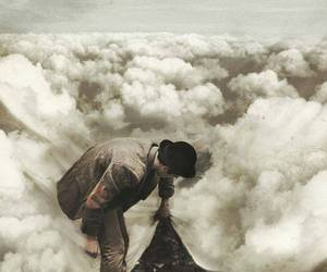 clouds, man, and sky image