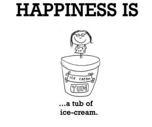 icecream and hapinessis image