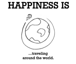 happiness and traveling image