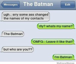 batman, funny, and text image