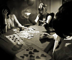 black and white, poker, and cards image