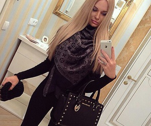 blonde, Louis Vuitton, and luxury image