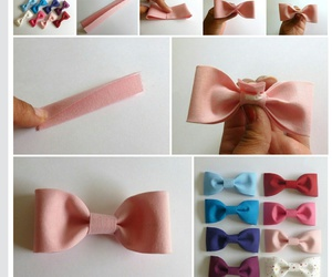 bow, diy, and heart image