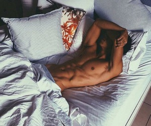 boy, bed, and Hot image