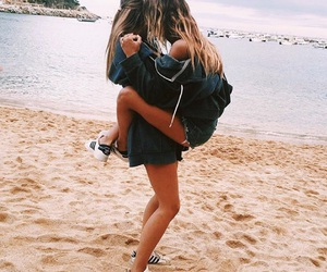 beach, summer, and bff image
