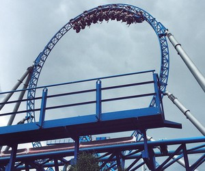 blue, fun, and Roller Coaster image