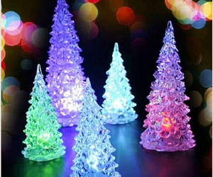 christmas tree, decorations, and glass image