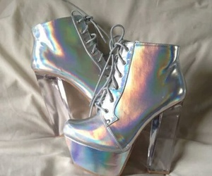 shoes, holographic, and grunge image