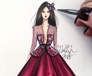 draw, dress, and girl image
