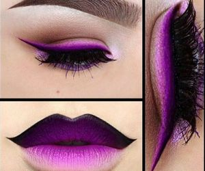 make up, lips, and makeup image