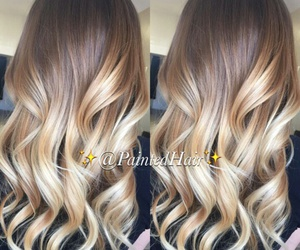 wavy, balayage, and ombre blonde image