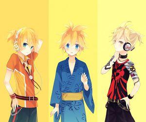 kagamine len, vocaloid, and anime boy image