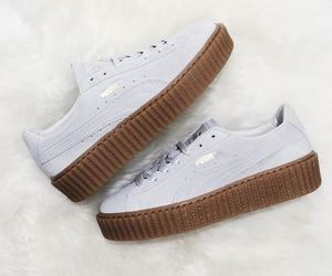 puma, rihanna, and white image