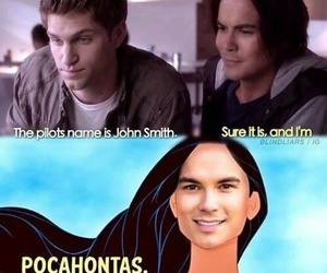 pll, funny, and caleb image