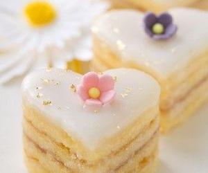 food, cake, and love image