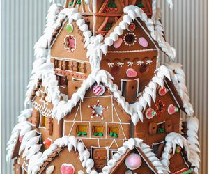 christmas, house, and food image