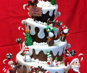 cake, christmas, and winter image