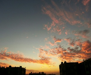 night, sky, and sunset image