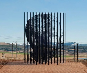 nelson mandela, sculpture, and south africa image