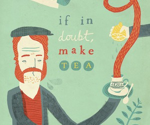 tea, illustration, and doubt image