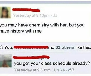 chemistry, facebook, and funny image