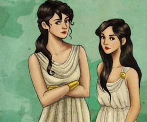 percy jackson, hylla, and Reyna image