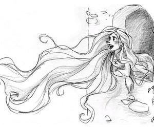 disney, rapunzel, and hair image