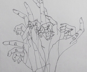 alternative, black and white, and fingers image