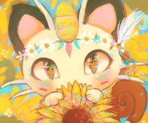 pokemon, cute, and meowth image